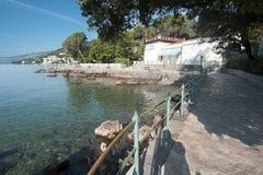 Adriatisches Seeszenische Ansicht, Kroatien-Tourismus Stockfoto