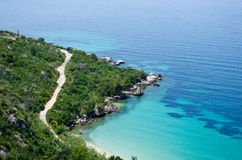Adriatisches Seeufer Stockfotos