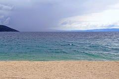 Adriatisches Seeufer Lizenzfreies Stockbild