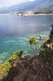 Adriatisches Seeufer. Montenegro Stockbild