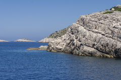 Adriatiska havet klippor Fotografering för Bildbyråer