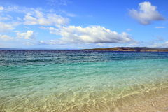 Adriatiskt hav i sommar Royaltyfria Foton