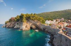 Adriatiskt hav kust- landskap Royaltyfria Bilder