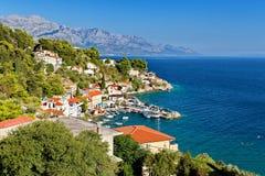 Adriatiskt hav - Makarska Riviera Dalmatia Kroatien Royaltyfria Bilder