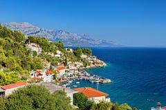 Adriatiskt hav - Makarska Riviera Dalmatia Kroatien Royaltyfri Fotografi