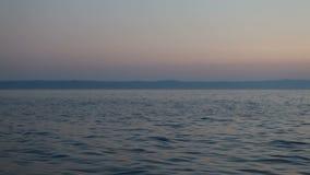 Adriatiskt hav på skymning Arkivbild