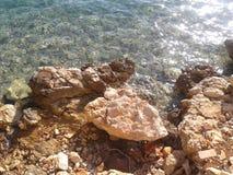 Adriatiskt havKorcula Kroatien Arkivfoton