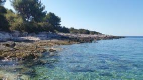 Adriatiskt havKorcula Kroatien Arkivbild