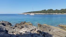Adriatiskt havKorcula Kroatien Arkivbilder