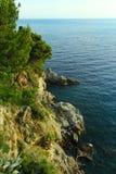 Adriatycki Dennego wybrzeża krajobraz fotografia stock