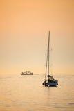 Adriatycki morze przy zmierzchem Zdjęcie Royalty Free