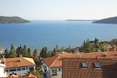 Adriatycki morze w Herceg Novi Montenegro fotografia royalty free