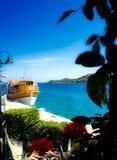 Adriatycki, statek, morze Fotografia Royalty Free
