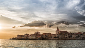 Adriatycki wybrzeże w Umag Chorwacja Obraz Stock