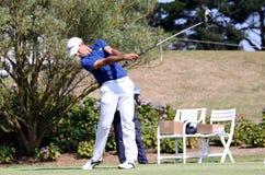Adrien Bernadet au défi 2013 de golf de Pleneuf Val Andre Image stock