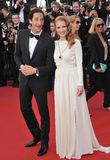 Adrien Brody,Jessica Chastain Royalty Free Stock Image