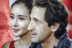 Adrien Brody and Mika Wang in Malaysia Stock Photos