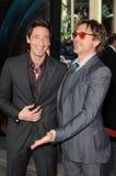 Adrien Brody,Robert Downey Jr royalty free stock photos