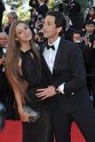 Adrien Brody y Lara Lieto Foto de archivo libre de regalías