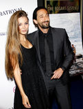 Adrien Brody y Lara Lieto Imagen de archivo libre de regalías