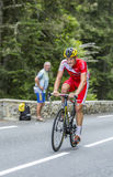 Adrien Petit en Col du Tourmalet - Tour de France 2014 Fotos de archivo libres de regalías