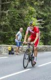 Adrien Petit op Col. du Tourmalet - Ronde van Frankrijk 2014 royalty-vrije stock foto's