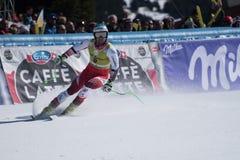 ADRIEN THEAUX FRA participa na corrida para a raça SUPER de G o MENÂ dos FINAIS do MUNDO do ESQUI do FIS Ski World Cup Finals alp imagem de stock