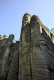adrspach трясет teplice взгляд городка республики cesky чехословакского krumlov средневековый старый Стоковое Изображение RF