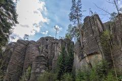 Adrspach - ciudad de la roca Fotografía de archivo