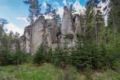 Adrspach - ciudad de la roca Fotos de archivo