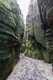 Adrspach - ciudad de la roca Fotos de archivo libres de regalías