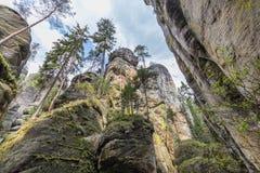 Adrspach - ciudad de la roca Imagen de archivo