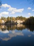 Adrspach - ciudad de la roca Foto de archivo libre de regalías