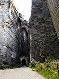 Adrspach - ciudad de la roca Imágenes de archivo libres de regalías