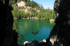 Adrspach del lago Fotos de archivo libres de regalías
