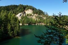 Adrspach del lago Fotos de archivo