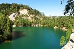 Adrspach del lago Fotografía de archivo