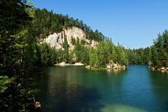 Adrspach del lago Imagenes de archivo