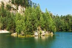 Adrspach del lago Fotografía de archivo libre de regalías