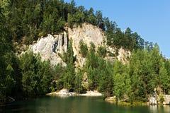 Adrspach del lago Imagen de archivo
