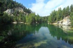 Adrspach jezioro Zdjęcia Royalty Free