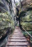 Adrspach teplice岩石 库存照片