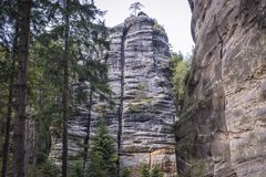 Adrspach-teplice Felsen Lizenzfreie Stockfotos