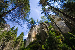 Adrspach Teplice Rock Town Royalty Free Stock Image