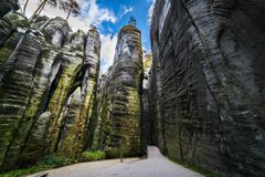 Adrspach - Teplice Rocks. Elephant market Royalty Free Stock Photography
