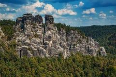 Adrspach-Teplice rocks in Czech. Summer landscape Stock Photography