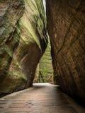 Adrspach. Teplice Rocks labyrinth in Czech Republic Stock Photo