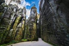 Adrspach, Teplice skały - Fotografia Royalty Free