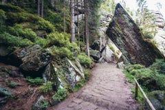 Adrspach teplice skały Fotografia Stock