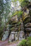 Adrspach teplice skały Obrazy Stock
